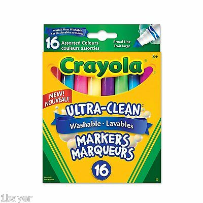 Crayola Art Craft Drawing Painting 16 Washable Broad Line Markers Colossal