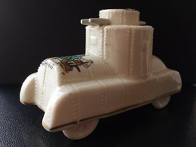 Carlton Crested China Model of an Armoured Car. Crest of Sheffield