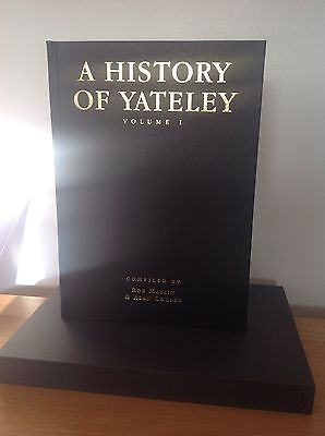 A History Of Yateley Vol 1 multi signed leatherbound carp fishing book
