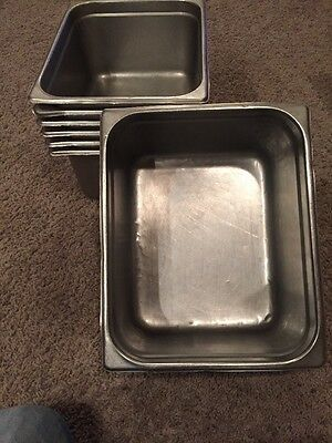 1/2 Stainless Steel Steam Table Pan/4 Inches Deep