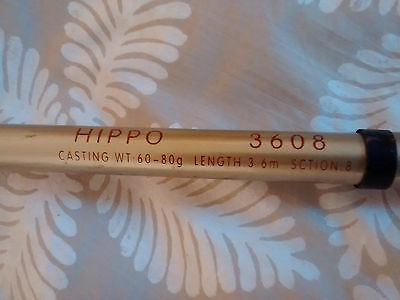 Hippo 3608 Length: 3.6m, Casting Weight: 80g, Sction: 8 and JK LE5000 Reel