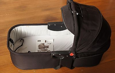 VALCO Stroller Bassinet Cradle Black, Runabout Deluxe, with Hood & Weather Cover