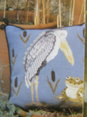 Beth Russell FROG & STORK bird cushion tapestry chart pattern only