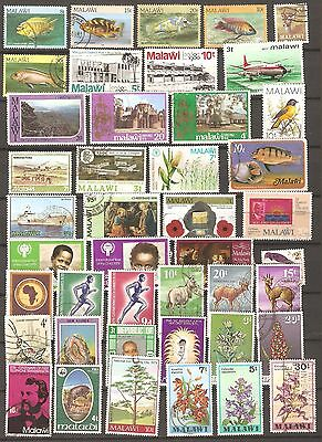 Malawi: A Selection of Thirty Six Used Stamps