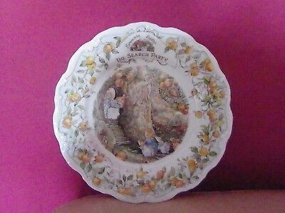 Rare Royal Doulton Brambly Hedge Wall Plate - The Search Party - Perfect !!