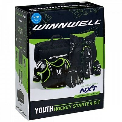 Winnwell Youth Beginner Ice/Roller Hockey Starter Kit Suitable for ages 4 and up