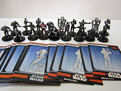 Star Wars Miniatures SITH LOT - Sith Maurauder + Troopers + Operatives + Droids