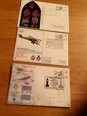 Three first Day Commemorative cover.Royal Air Force.1968-9