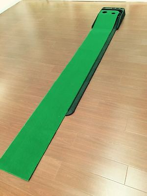 A Set of Portable Golf Practice Putting Mat Trainer Training IndoorOutdoor! Sale