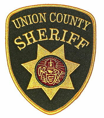 UNION COUNTY ARKANSAS AR Police Sheriff Patch STATE SEAL ANGEL CROSS HARP ~