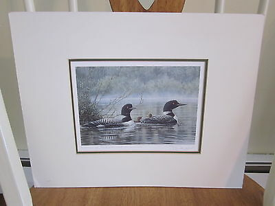 "Color Print - ""northern Reflections - Loons"" By Don Li-Leger"