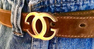"""VINTAGE AUTHENTIC GUCCI BELT Natural Suede Handcrafted Leather- 36"""""""
