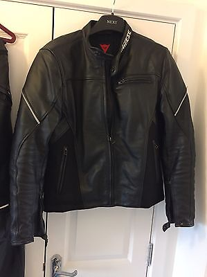 Dainese Mens Two Piece Motorcycle Leathers Suit Black EU 54 UK 44