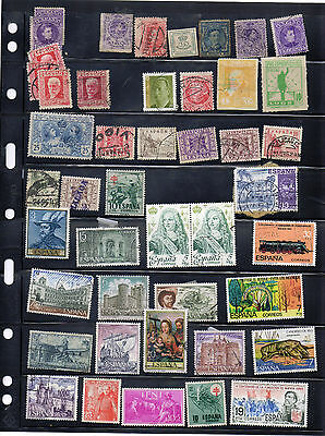 Collection of Stamps from Spain & Colonies, MH and FU, nice lot,some nice sets.
