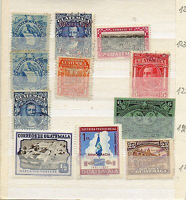 Small selection of Guatemala stamps, nice lot.