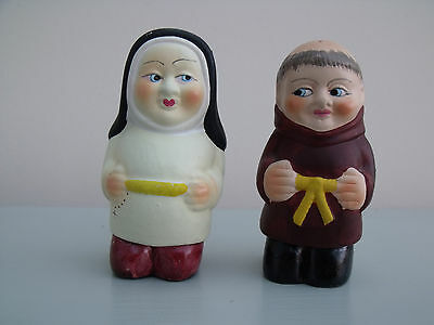 Unusual Salt And Pepper Pots - Monk And Nun