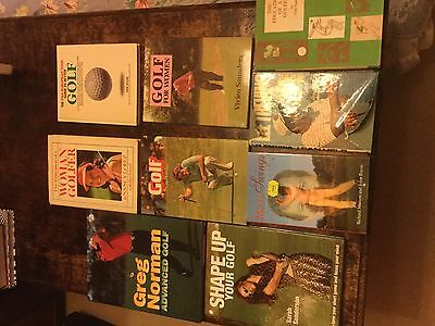 Large collection of 48 golf books.