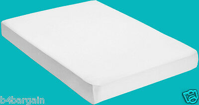 2 x 100% Cotton Percale Single Fitted Bed Sheet White 180 Thread Count 91x190cm