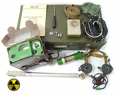 Cold War Military Radiation Meter Dp5V Measurer Gamma Neutron Dosimeter Detector