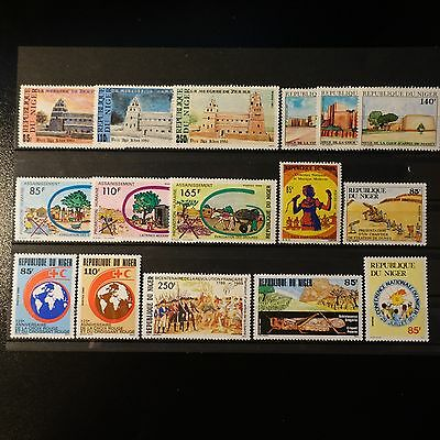 Niger N°746/748 749/751 753/755 756/757 765/766 774 779 823 Neuf ** Luxe Mnh