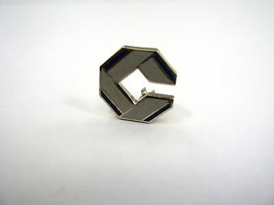 Vintage Collectible Pin: Letter C Logo Blue & Silver Tone Nice Design