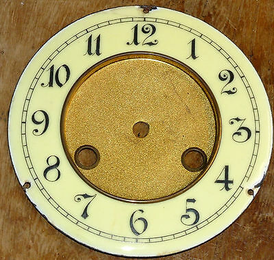 Old Enamel Dial for Vienna Style Clock.