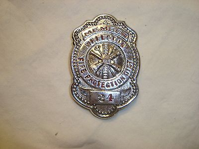 Obsolete Wellston Fire Dept St Louis County Mo Breast Badge