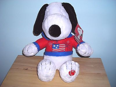 NEW MUSICAL SNOOPY PATRIOTIC PLUSH DOLL TOY Plays AMERICA THE BEAUTIFUL ~ LAST 1