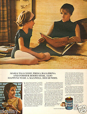 1969 LARGE Print Ad of Maxwell House Coffee with Maria Tallchief