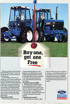 1990 Ford New Holland Versatile 9030 Farm Tractor Print Ad