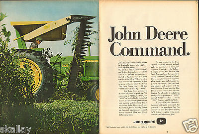1968 2 Page Print Ad of John Deere 3020 Farm Tractor