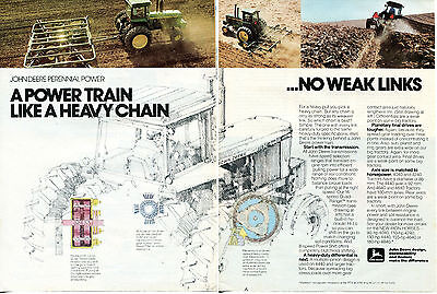 1980 John Deere 4640 Farm Tractor 2 Page Print Ad
