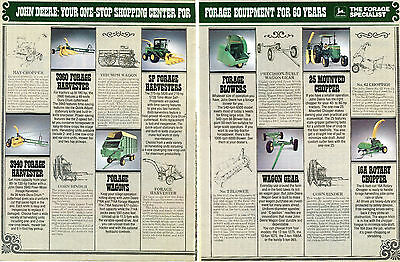 1982 John Deere 3940 3960 Forage Harvester & Hay Equipment 2 Page Tractor Ad