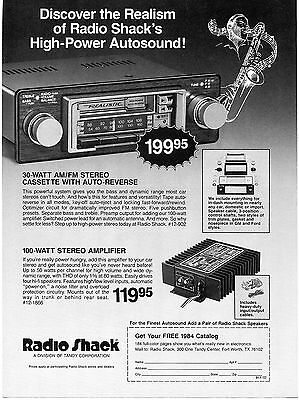 1983 Radio Shack Realistic AM/FM Stereo Cassette Receiver Amplifier Print Ad
