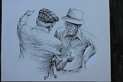 Original Vintage In House Artist Drawing - Winchester Press