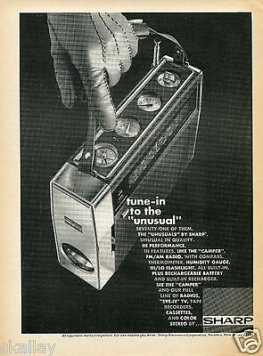1970 Print Ad of Sharp Camper Solid State Portable Radio