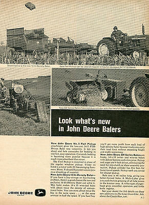 1965 Print Ad of John Deere 224 & 10 Baler with 2010 Farm Tractor