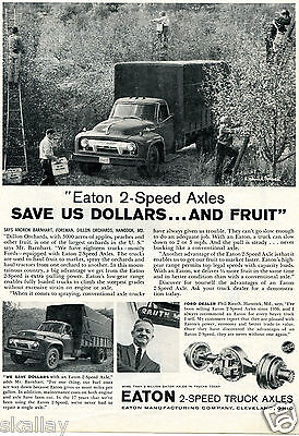 1959 Print Ad of Eaton 2-Speed Truck Axles Dillon Orchards Hancock MD