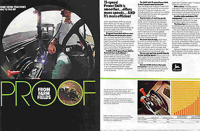 1984 John Deere 4640 & 4650 2 Page Farm Tractor Print Ad