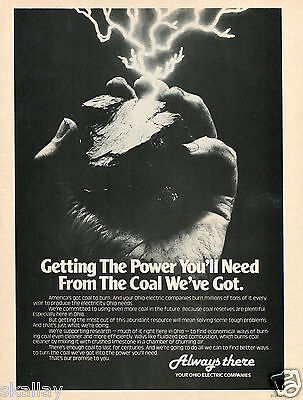 1981 Print Ad of Ohio Electric Companies getting the power you'll need from coal