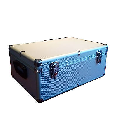 NEW 510 CD DVD ALUMINIUM STORAGE CARRYING CASE HOLDER SILVER Free Shipping