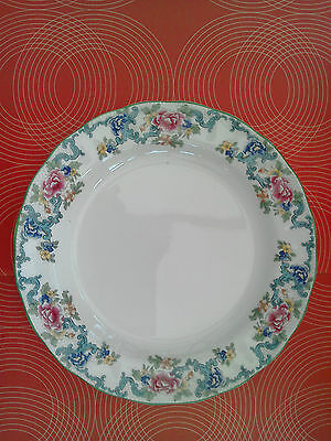 2 Large Booths Floradora Green dinner plates. 10.5 inch. Royal Doulton TC 1127
