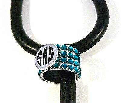 Stethoscope Id Tag Bling Ring-Cuff Monogrammed,paramedic,nurse,dr.rn,vet, Tech,