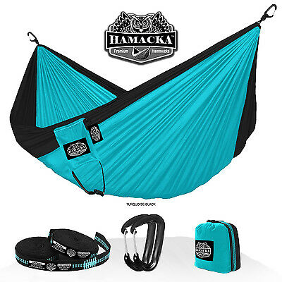 Travel Hammock Set (Turquoise-Black) Hamacka