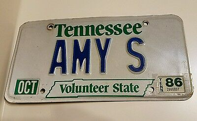Tennessee Personalized Vanity License Plate Used Oct 86 Volunteer State