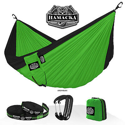Travel Hammock Set (Green-Black) Hamacka