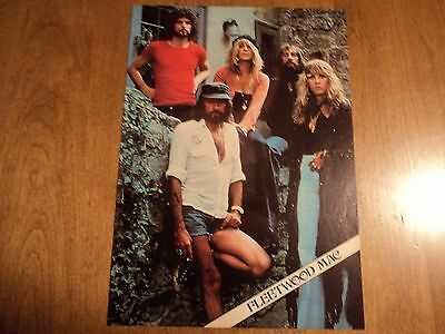 1980s Fleetwood Mac Cheap Trick 2 sided Magazine Pin Up Poster 8 X11 Rock