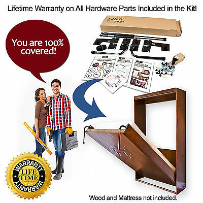 Wall Bed Hardware Kit for Double/Full Horizontal