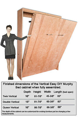 DIY Wall Bed Hardware Kit for  Vertical Mount Double/Full Size