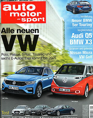 zeitschrift auto motor und sport ausgabe 04 2017 eur. Black Bedroom Furniture Sets. Home Design Ideas
